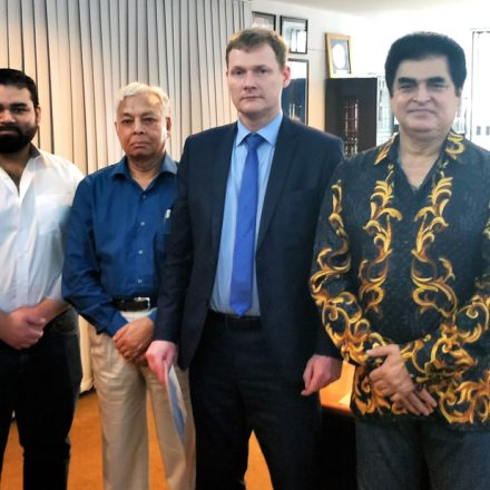 Director of Synergy University, Russian visited RUD