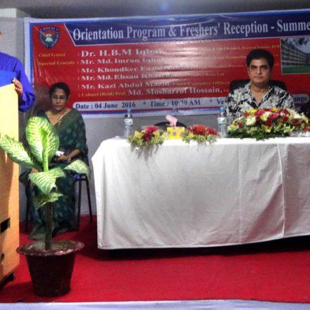 Orientation Program & Freshers' Reception – Summer 2016