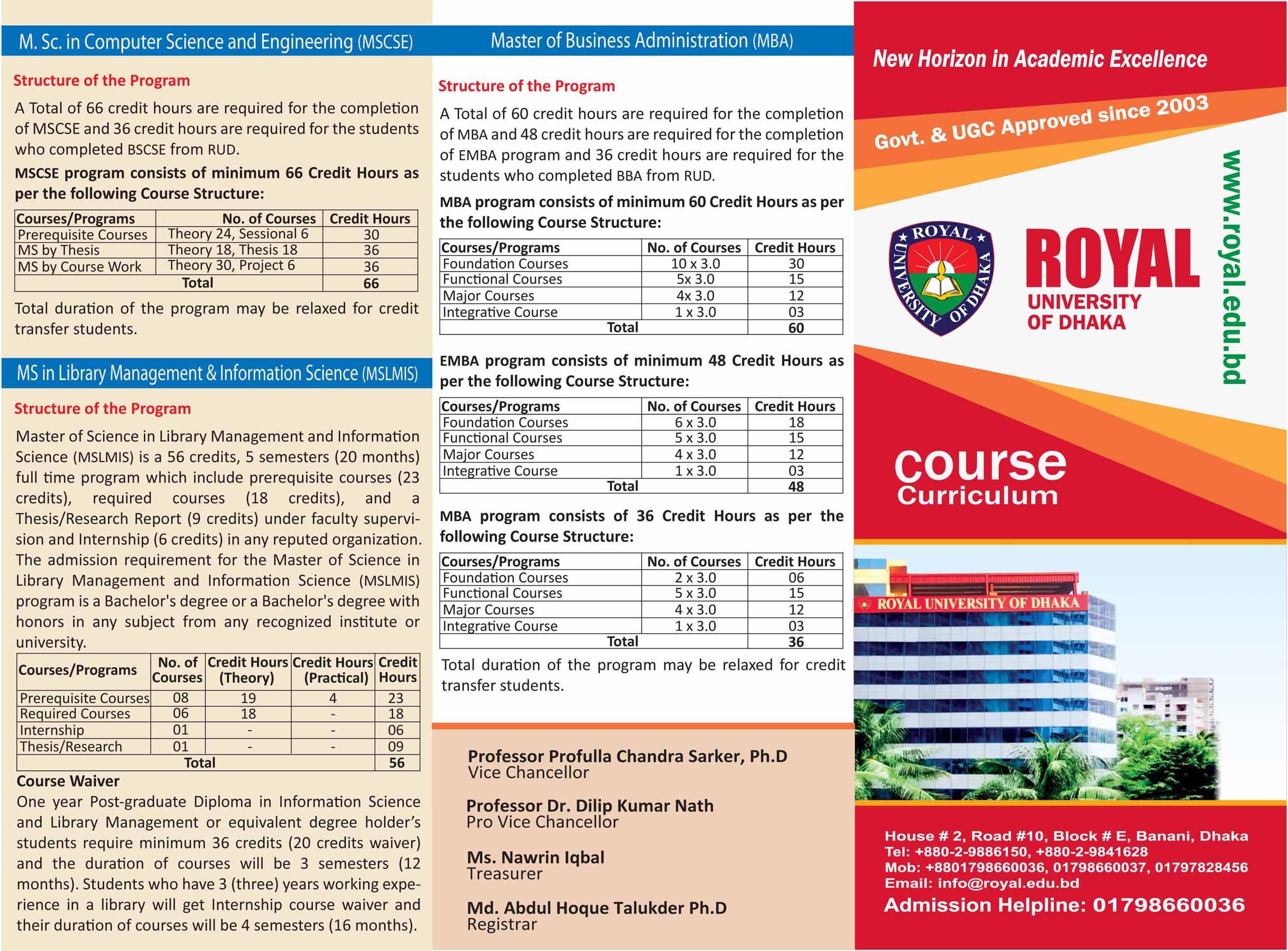 Admission | Royal University of Dhaka